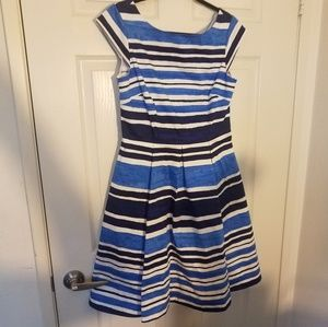 Kate Spade Sleeveles Mariella Striped Blue Dress